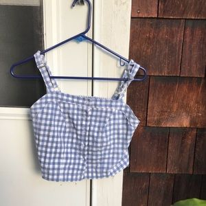 Brandy Melville Blue Gingham Top